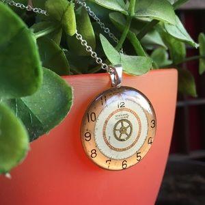 Handmade watch face necklace pendant